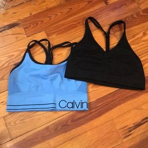 Two Sports Bras Size Small